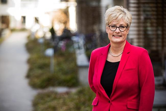 En bild på Hyresgästföreningens ordförande Marie Linder