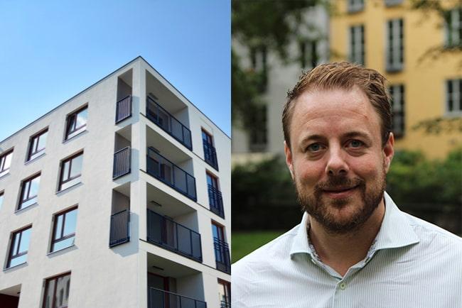 bostadsrättshus och johan lindén, specialist på föreningssekonomi på HSB