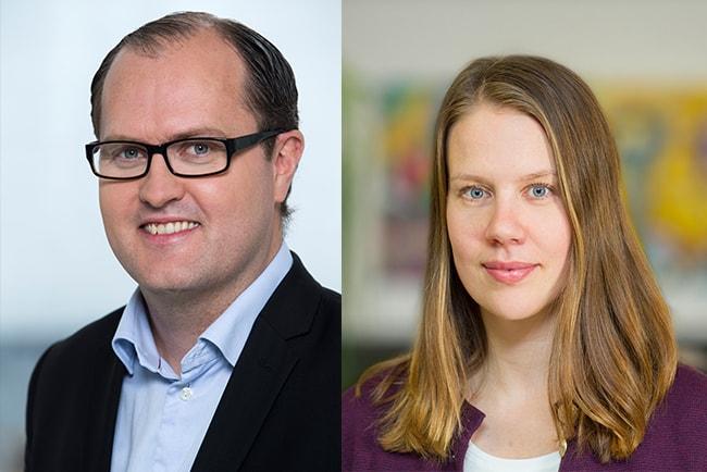 erik elmgren, förhandlingschef på hyresgästföreningen, och maria österlind, hyressättningsexpert på Sveriges almännytta