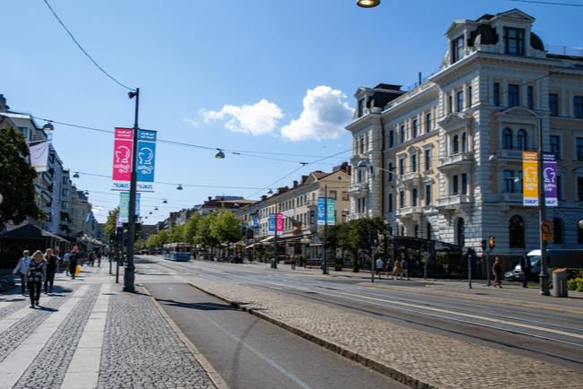 gatan Avenyn i centrala Göteborg