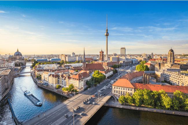 flygbild över Berlin