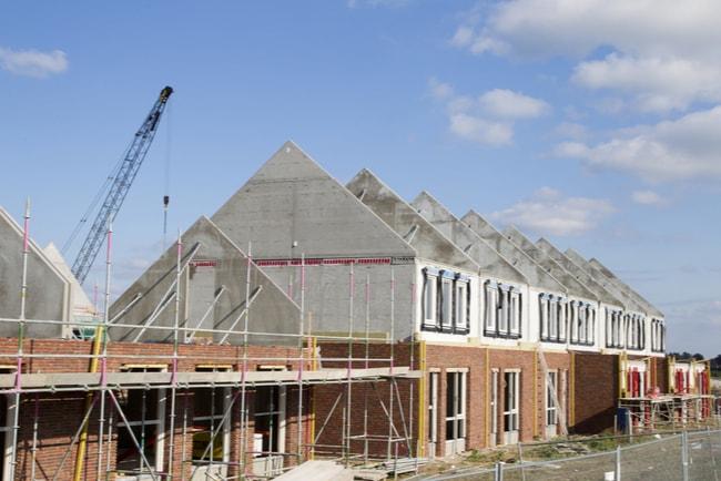 huslänga under uppbyggnad