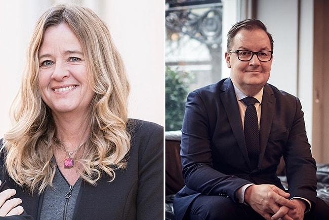 claudia wörmann, privatekonom på SBAB, och Fredrik Kullman, vd för Bjurfors