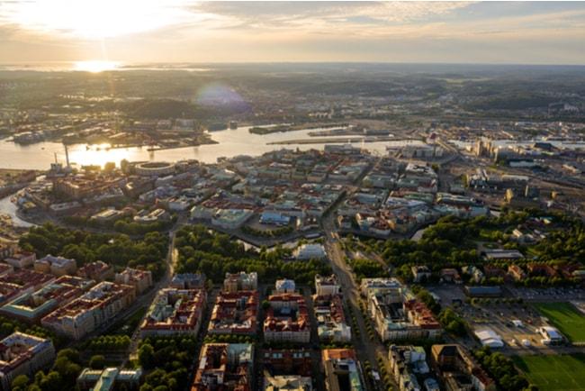 stadsvy över göteborg