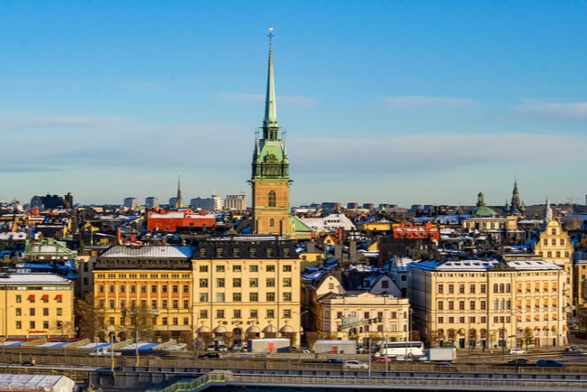 vy över gamla stan i Stockholm