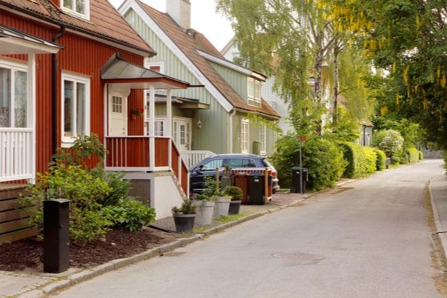 Villaidyll i en Stockholmsförort