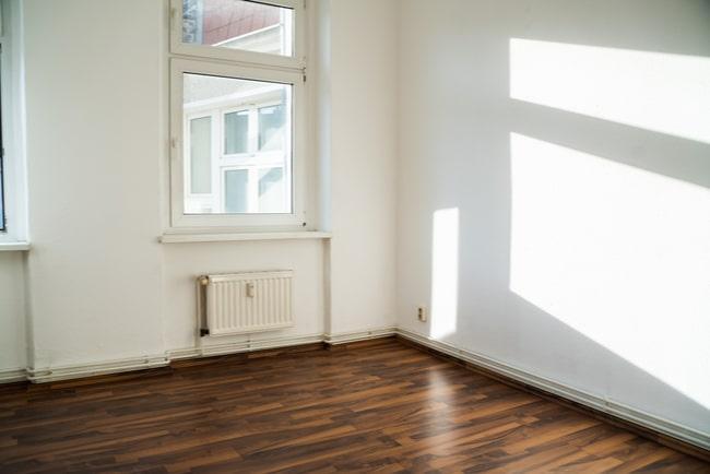 Del av en tom lägenhet