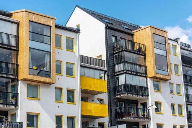 Nyproducerade lägenheter i Göteborg.
